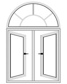 Arch design window and door arch window grill design for Window design for house in india